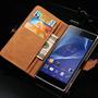 Capa Case Carteira Couro Premium Sony Xperia Z2 + Carregador