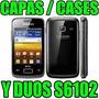 Kit Capa Tpu + Película Galaxy Y Duos S6102 Frete Grátis