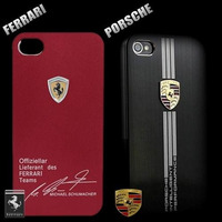 Capa Iphone 4g 4s Case Aluminum Ferrari / Porsche Aluminio
