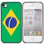 Capa Case Iphone 4s 4 Bandeira Do Brasil De Tpu