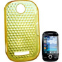 Capa Samsung Corby S3650 Amarelo Diamante Com Película Prot
