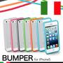 Capa Bumper Case Iphone 5, 5c, 5s + Película Dupla Brinde