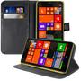 Capa Carteira Couro Nokia Lumia 1320 +película +frete Grátis