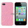 Case Capa P Iphone 4 Iphone 4s Glitter Brilhosa Rosa Dourada