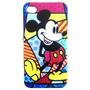 Capa Acrílico Iphone 4 / 4s Romero Brito - Mickey