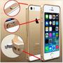 Case Capa Bumper Metal Dourado Premium P/ Iphone 5 Iphone 5s