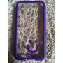 Capa Case Celular S5 Transparente/roxo Mob