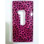 Capa Capinha Case Para Nokia Lumia 920 Oncinha Rosa + Brinde