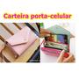 Carteira Case Porta-celular Multifuncional Em Couro Pu