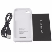 Capa Case Carregadora Iphone4/4s C/ Cab Usb + Película Vidro