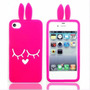 Capa Iphone 5 5s Pink 3d Coelho Silicone
