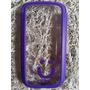 Capa Case Celular S3 Transparente Roxo Mob