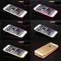 Bumper Alumínio Iphone 6 + Película De Vidro Frente & Verso