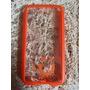 Capa Case Celular S5 Transparente Laranja Mob
