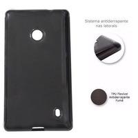 Capa Tpu + 02 Peliculas Fosca Ou Lisa Nokia Lumia 520/525
