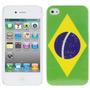 Capa Case Capinha Iphone 4/4s Bandeira Do Brasil
