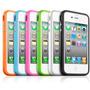 Kit Com 5 Capas Bumper Para Iphone 4 4s + Pelicula Gratis