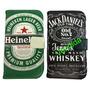 Capa Carteira Celular Nokia Lumia 520 Heineken Jack Daniels