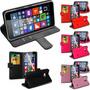 Carteira Case Couro Microsoft Nokia Lumia 640xl + Película