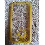 Capa Case Celular S5 Transparente Amarelo Mob