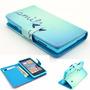 Capa Case Flip Carteira Azul Smile Lumia 520