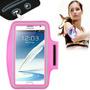 Braçadeira Galaxy Note Rosa 1 2 3 4 Porta Celular Armband