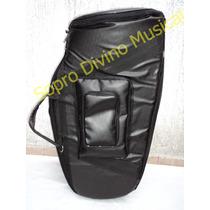 Capa Case Master Luxo Couro Pelucia Para Tuba Bombardao 3/4