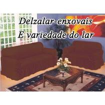 Capa P/ Sofá 2 E 3 Lugares Tecido Gorgurão Grosso + Brinde