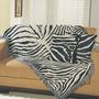 Manta Para Sofá 100% Algodão Zebra Omartex