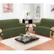 Protetor De Sofá Impermeável 2 E 3 Lugares | Verde