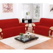 Protetor De Sofá Impermeável 2 E 3 Lugares - Vermelho