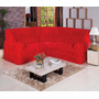 Capa De Sofá De Canto Até 6 Lugares - Vermelha
