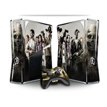 Capa Xbox 360 Slim Vinil Película Skin Adesivos 123