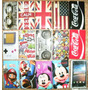 Capa P/ Lg L5 Optimus E610 Coca Cola Uk Usa Mário Mickey