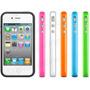 Capa Bumper Colorido Para Iphone 4/4s + Película De Brinde