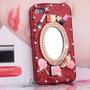 Capa Case Iphone 4 4s Glitter Com Espelho Cabeleireira