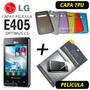 Capa Tpu + Película Lg Optimus L3 Dual E405 + Frete Grátis
