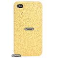 Case Capinha Para Iphone 4 4s Glitter Brilhosa Rosa Dourada