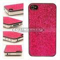 Case Capinha Capa Glitter Brilho Rosa Dourado Iphone 4 4g 4s