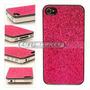 Case Capinha Capa Glitter Brilho Rosa Dourado Iphone 4 4s