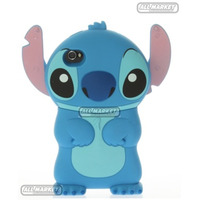 Case Capa Capinha Lilo Stitch Disney Azul Iphone 4 Iphone 4s