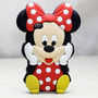 Case Capa Iphone 4 Silicone Mickey Minnie Mouse Linda Disney