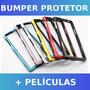 Case Bumper Xperia Z1 L39h + Películas Frontal E Traseira