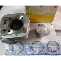 Kit Cilindro Titan 125 02 A 08 Pistao Anéis Metal Leve K9170