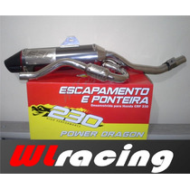 Escapamento Para Crf-230 Com Curva E Ponteira Red Dragon
