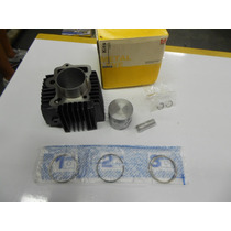 Kit Pistao,aneis,cilindro,pino E Trava Biz 100 Metal Leve.