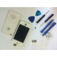 Lcd + Tampa Da Bateria + Chaves E Parafusos Para Iphone 4g