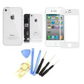 Vidro Frontal Iphone 4s A1387 Branco + Tampa Traseira Chaves