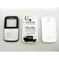 Carcaça Motorola Ex109 Ex108 Branca E Prata Original