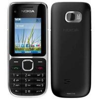 Carcaça Nokia C2-01 Preta Modelo Original